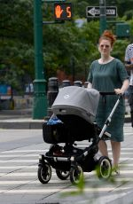 Rose Leslie Is pictured out on a stroll in New York