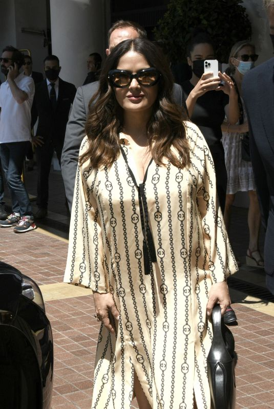 Salma Hayek Arriving at an event in Cannes