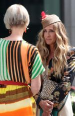Sarah Jessica Parker & Cynthia Nixon On the set of And Just Like That in New York