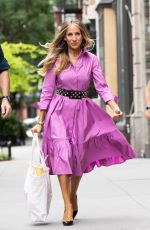 """Sarah Jessica Parker Seen filming """"And Just Like That..."""" in the East Village"""