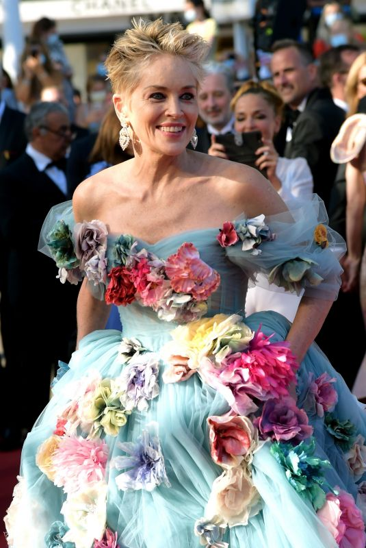 """Sharon Stone At A Felesegam Tortenete/The Story Of My Wife"""" Screening, 74th Cannes Film Festival"""