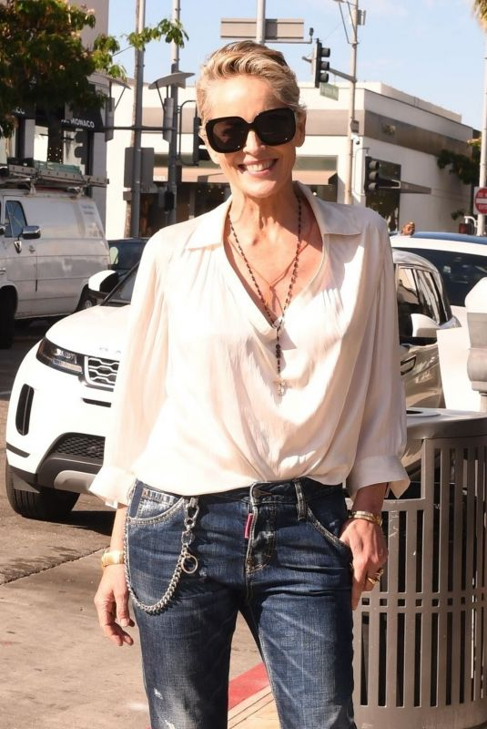 Sharon Stone Out in Beverly Hills