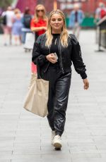Sian Welby Pictured outside the Global Radio Studios dressed in all black attire in London