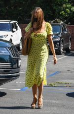Sofia Vergara Wears a bright yellow dress as she arriving for a retail therapy session at Saks Fifth Avenue in Beverly Hills