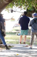 """Tammin Sursok & Madeleine West Seen on set filming """"Love and Penguins"""" on the Gold Coast"""