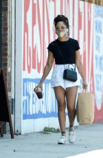 Tessa Thompson Is spotted out shopping in Los Angeles