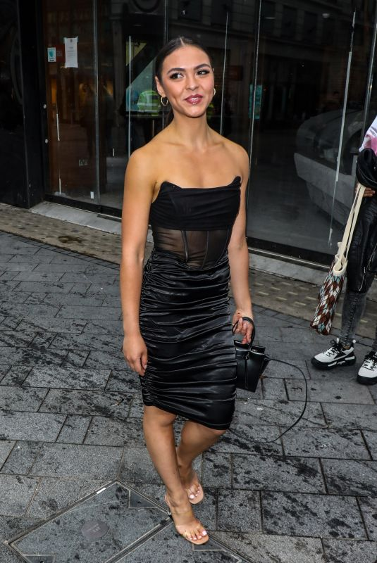 Vanessa Bauer Arriving at the Black Widow Premiere in London