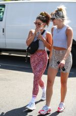 Vanessa Hudgens & GG Magree exit the DogPound Gym in West Hollywood