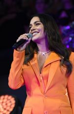 Vanessa Hudgens Sings the national anthem during game 5 of the NBA Finals in Phoenix, Arizona