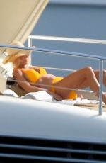 Victoria Silvstedt Enjoys the sun on a luxury yacht in Monaco
