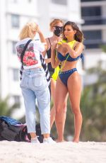 Zita Vass Shows off her sexy curves on the set of a GUESS Swim Photoshoot in Miami Beach