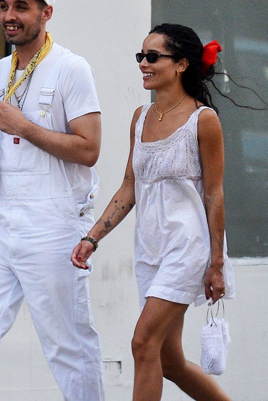 Zoe Kravitz Steps out with a friend in New York