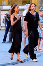 Zoe Saldana Spotted out and about in Florence