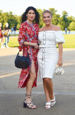 Aisleyne Horgan-Wallace Showed off her voluptuous physique in a white dress as she attends the The Luna