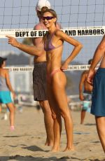 Alessandra Ambrosio Is back on her volleyball grind as she enjoys a game with friends at Santa Monica Beach