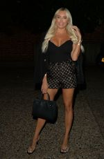 Amber Turner Seen at Melin Restaurant in Chigwell