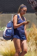 April Love Geary Have a morning workout at the Malibu Racquet Club