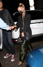 Ashlee Simpson Pictured leaving Warwick in Hollywood