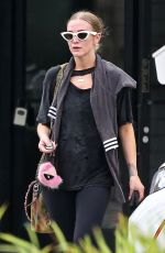 Ashlee Simpson Wraps up at the gym in Studio City