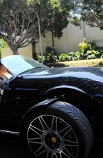 Ashley Greene Cruises in a Vanderhall convertible on Pacific Coast Highway in Los Angeles