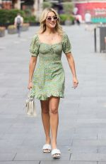 Ashley Roberts Makes a leggy appearance at Heart radio in floaty floral mini dress in London