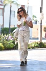 Ashley Tisdale Boosts her morning with Jamba`s new Gotcha Matcha iced beverage in Los Angeles