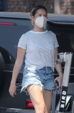 Ashley Tisdale Dons Daisy Dukes on this hot Summer day during a coffee break in Los Feliz
