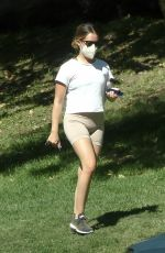 Ashley Tisdale Enjoys the outdoors as she goes for a solo afternoon hike at Griffith Park in Los Feliz