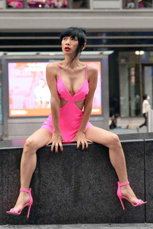 Bai Ling At a photoshoot in Times Square in New York