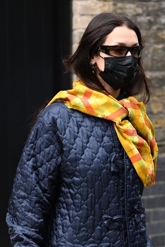 Bella Hadid Spotted leaving Chiltern Firehouse in London