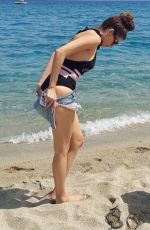 Blanca Blanco Pictured showing off her ample curves wearing a