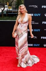 """Camille Kostek Attends the """"Free Guy"""" New York Premiere at AMC Lincoln Square Theater in New York City"""