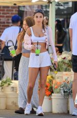 Chantel Jeffries Shows off her amazing physique shopping at a farmers market In West Hollywood