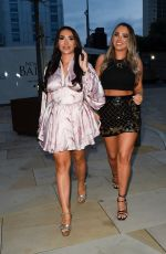Chloe Brockett Puts on a leggy display as she enjoys a night out at Menagerie in Manchester
