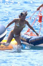 Christina Milian Seen aboard a yacht in Cannes