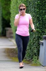 Coleen Rooney In pink as she is seen leaving a Pilates class in Alderley Edge, Cheshire
