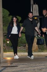 Courteney Cox And Johnny McDaid walk hand in hand as they leave Nobu Malibu