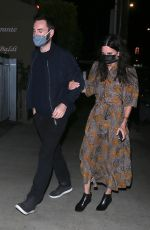 Courteney Cox Seen stepping out for dinner at celebrity hot spot Giorgio Baldi in Santa Monica