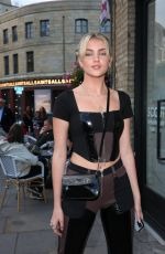 Daisy Jelley Seen attending Van Gogh: The Immersive Experience private view at The Old Stable Yard in London