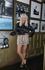 Denise Van Outen Seen departing Proud Embankment in London after performing in Cabaret All Stars