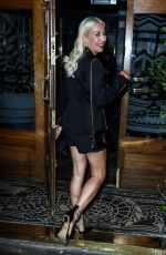 Denise Van Outen Seen heading for drinks at the Groucho Club in London