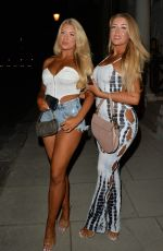 Eve & Jess Gale Seen heading for a night out with friends in Mayfair, London