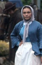 Florence Pugh On the set of The Wonder in Wicklow, Ireland