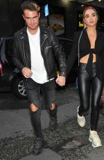 Georgia Harrison Arrives at San Carlo restaraunt in Manchester with mystery man