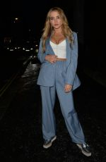 Georgia Harrison Seen at MNKY house in Mayfair, London for drinks and dinner with her friend Bella Kempley