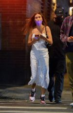 Hailey Baldwin Bieber Goes out for a late-night dinner date with friends in New York City