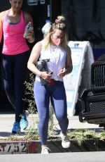 Hilary Duff Working out at a gym in Los Angeles