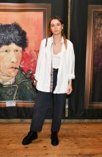 Immy Waterhouse At the launch of Van Gogh: The Immersive Experience at The Old Truman Brewery, by Exhibition Hub and Fever