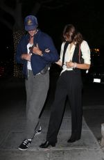 Jacob Elordi & Kaia Gerber Hold onto each other while leaving their dinner date at Matsuhisa in Beverly Hills