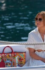 Jennifer Lopez Seen strolling in Portofino with some friends during her cruise in the Mediterranean